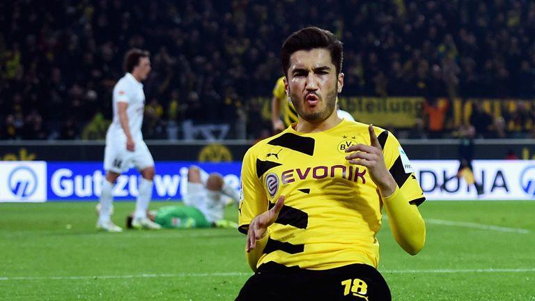 Nuri Sahin: Celebrates Borussia Dortmund's fourth goal
