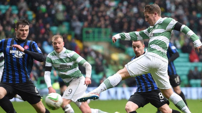 Kris Commons (right) fires home the first goal