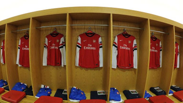 Arsenal's Home Dressing Room