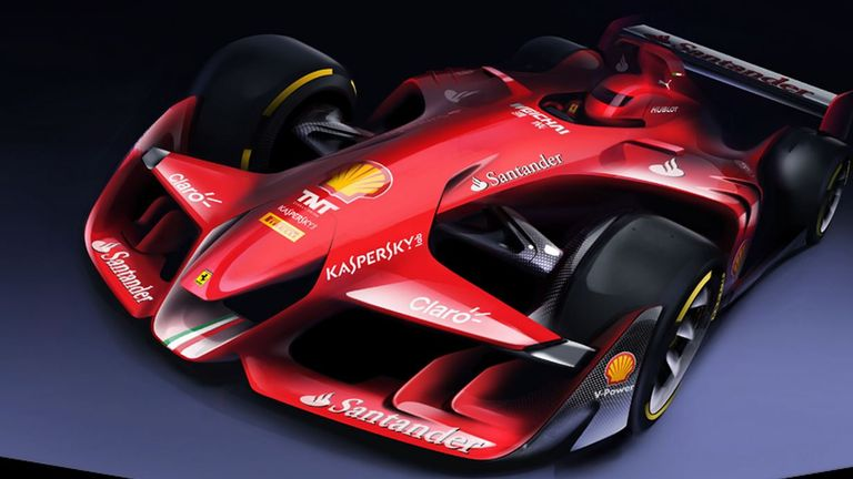 Superbe Ferrari Revealed This CGI Concept Car In 2015, But Could F1 Eventually Look  Like This