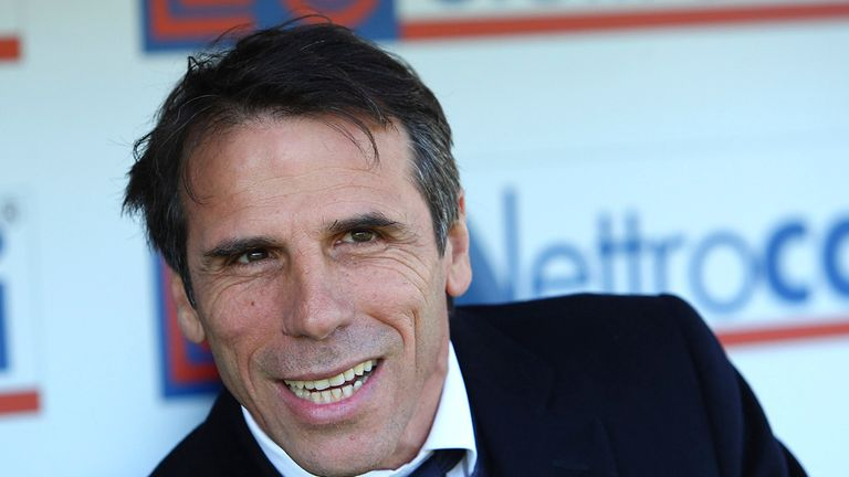Former West Ham and Watford manger Gianfranco Zola has been linked with a return to England with Nottingham Forest