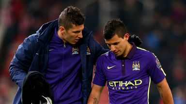 Sergio Aguero: Scored a double against Stoke before being withdrawn