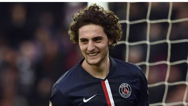 Adrien Rabiot celebrates after scoring against Toulouse