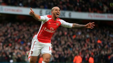 Theo Walcott: Ready to play his first north London derby since  injury