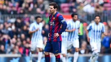 Lionel Messi; Dejected after defeat to Malaga
