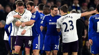 James McCarthy and Branislav Ivanovic: Clash at Stamford Bridge