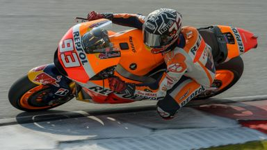 Marc Marquez during the second day of the second round of pre-season MotoGP winter testing