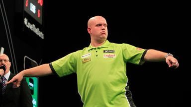 Michael van Gerwen: Fought back from 5-2 down (Photo by Lawrence Lustig)