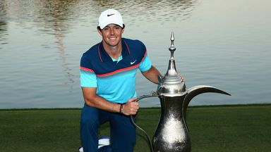Rory McIlroy: Poses with the trophy in Dubai