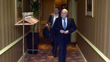 FIFA President Sepp Blatter has arrived in belfast