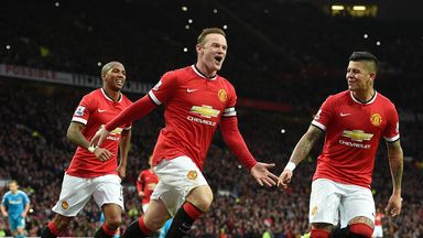 Manchester United's Wayne Rooney celebrates against Sunderland
