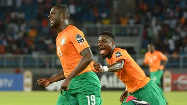 Yaya Toure: The midfielder led the Ivory Coast to victory