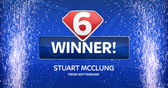 Soccer Satuday Super 6: Stuart McClung from Nottingham becomes the fourth winner of the season