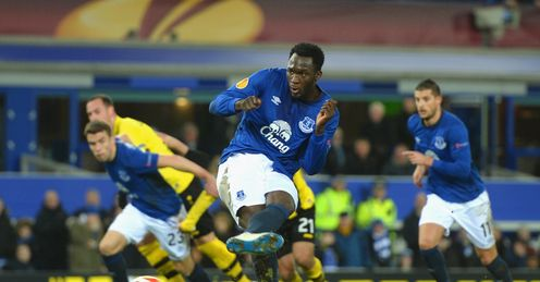 Romelu Lukaku scores against Young Boys