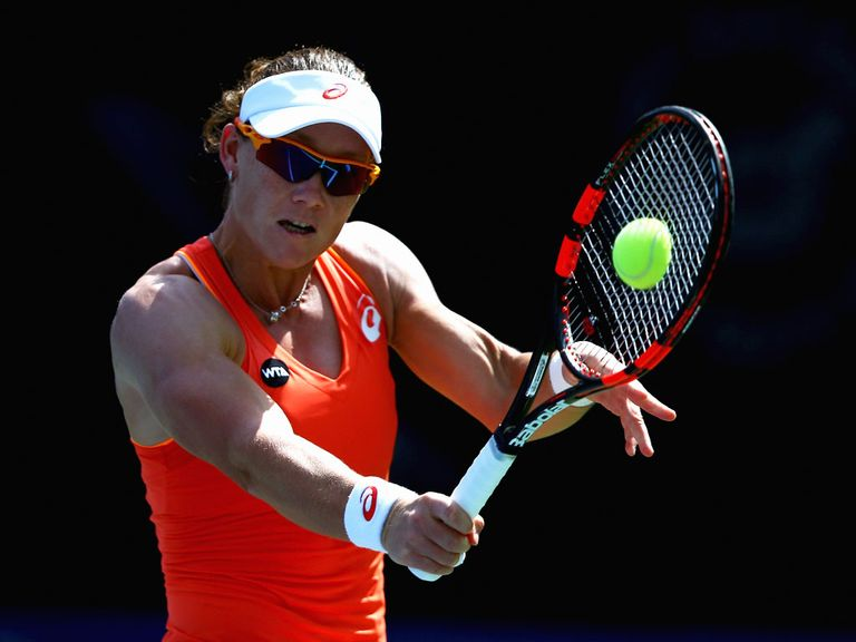 third seed samantha stosur will take on france 39 s kristina mladenovic in the final of the. Black Bedroom Furniture Sets. Home Design Ideas
