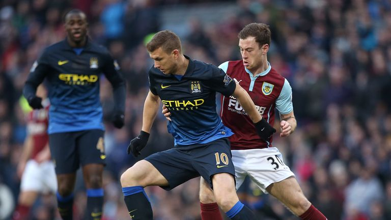 Dzeko struggled up front for Manchester City