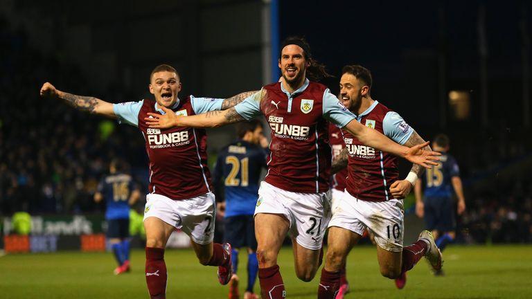 Boyd celebrates his stunning winner for Burnley