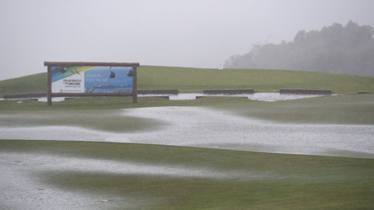 The Madeira Islands Open was abandoned after a week of bad weather at Santo da Serra