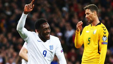 Danny Welbeck was on target on Friday but will miss Tuesday's match in Italy