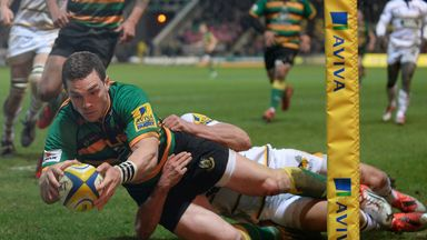 George North scoring against Wasps before his injury
