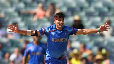 Afghanistan quick Hamid Hassan delivered ample entertainment