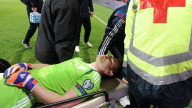 Igor Akinfeev: The Russia goalkeeper was treated in a local hospital