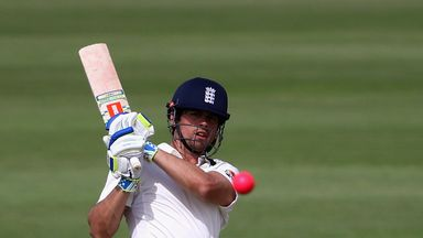 Alastair Cook made just five against Yorkshire before being caught by Adil Rashid