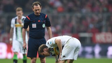 Arjen Robben was injured by a tackle from Gladbach