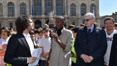 Fiona May is heading the campaign to tackle racisim in Italy