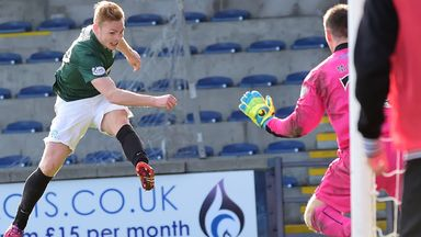Fraser Fyvie: Equalises for Hibs at Raith Rovers but it was the hosts who ended up winning 2-1