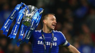 John Terry with the Capital One Cup