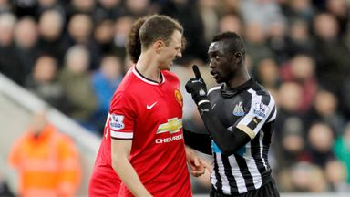 Evans and Cisse: The pair were involved in an altercation last Wednesday