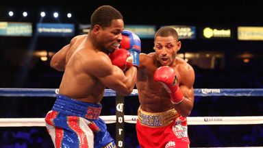 Shawn Porter on his way to defeat to Kell Brook last summer