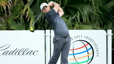 Rory McIlroy during his practice round at Doral