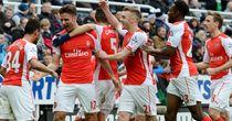 Olivier Giroud: Celebrates scoring at Newcastle last season