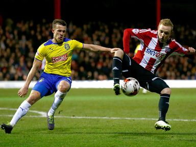 Alex Pritchard takes control of the ball