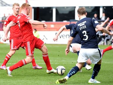 Aberdeen's Adam Rooney opens the scoring for the visitors