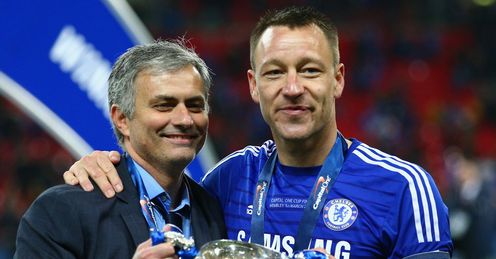 Jose Mourinho and John Terry with the Capital One Cup