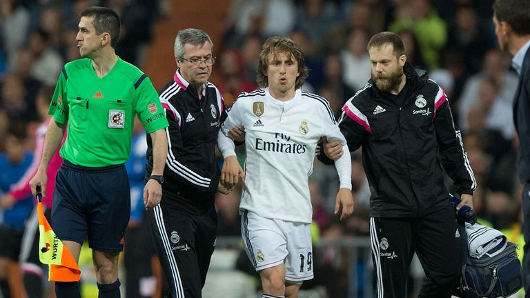 Modric's season is in jeopardy after knee injury against Malaga