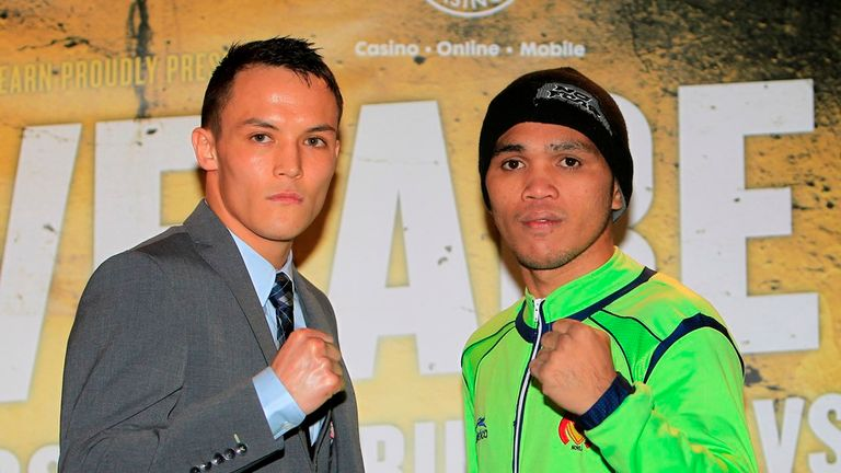 Josh Warrington (l): Faces Dennis Tubieron on Saturday night (Pic by Lawrence Lustig)