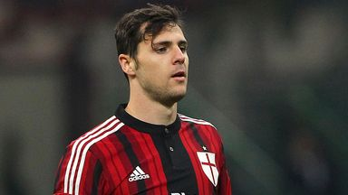 Mattia Destro spent the second half of last season on loan at AC Milan