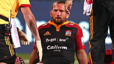 Aaron Cruden: After suffering his knee injury in Christchurch last week