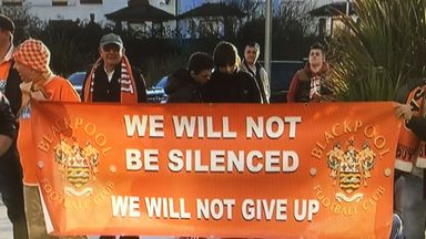 Blackpool fans have been protesting against Karl Oyston since pre-season