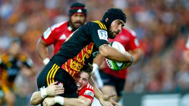 Charlie Ngatai: Scored two first half tries for the Chiefs