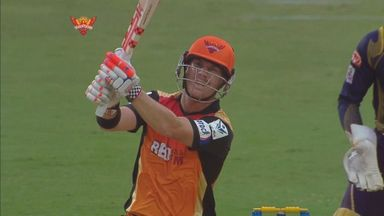 David Warner hits out during his knock, his highest score in this year
