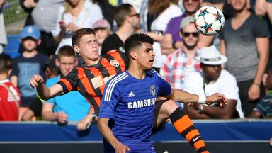 Dominic Solanke during the UEFA Youth League final win over Shakhtar Donetsk