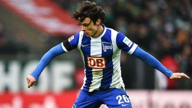 Nico Schulz of Hertha Berlin in action