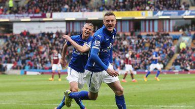 Jamie Vardy: Celebrates Leicester's winner