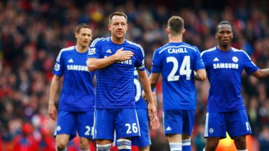 John Terry produced a man-of-the-match display at Arsenal