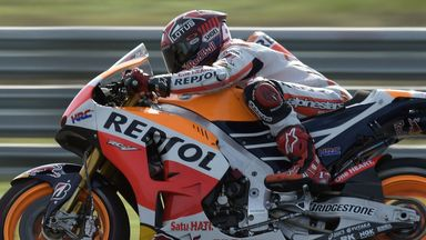 Marc Marquez on his way to pole position for the Argentina Grand Prix
